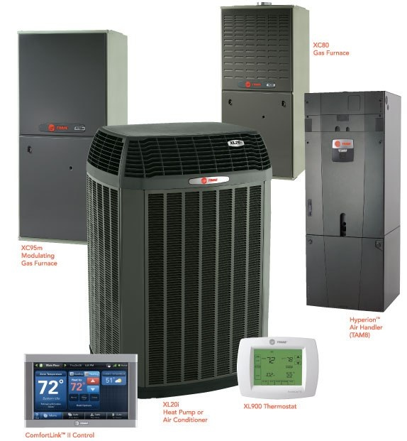 Trane Series of Heating and Cooling Equipment